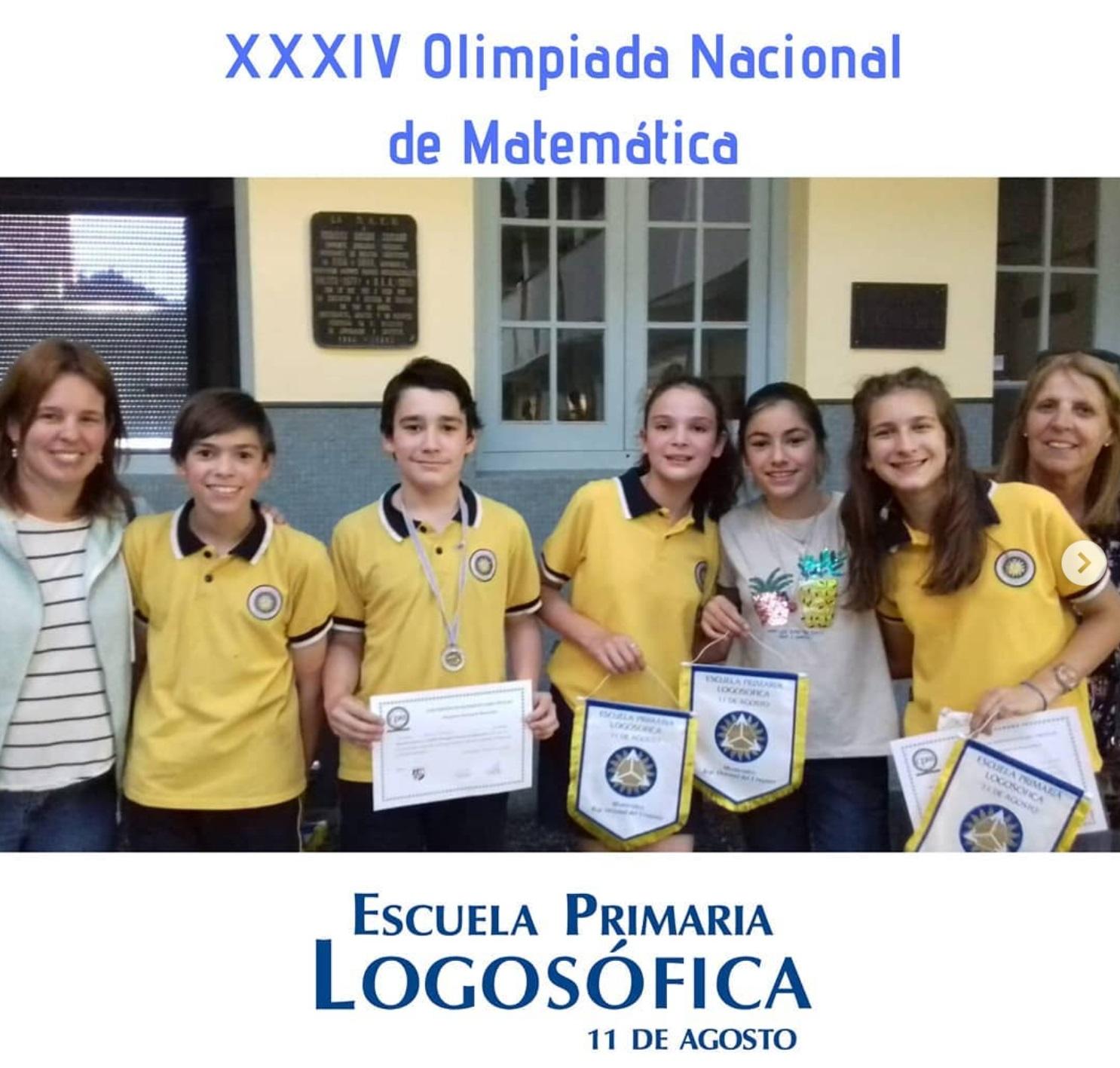 escuela logosófica premiada olimpíadas de matemática